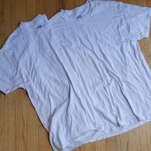 Set of 2 mens white t shirts